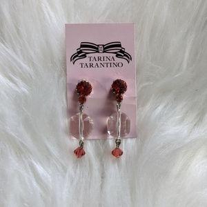 Tarina Tarantino pink dangle crystal earrings